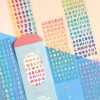 아이코닉 젤리 알파벳 / 숫자 스티커 6종 세트