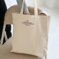 square canvas bag ( ivory )