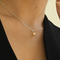 small gold pearl necklace