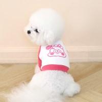 [ODD PET][ODD STUDIO] 누또 크레용 크롭 맨투맨 티셔츠_핑크