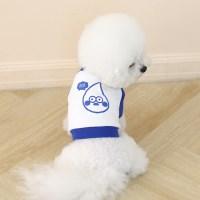 [ODD PET][ODD STUDIO] 해또 크레용 크롭 맨투맨 티셔츠_블루