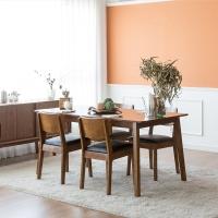 [장미맨숀] 고메 와이드 테이블 1600 식탁세트 (의자형/2colors)