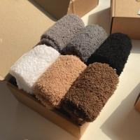 무지 소프트 수면 양말 6color 세트