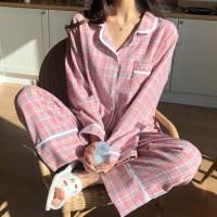 키치 기모 체크 잠옷 파자마세트