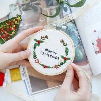 101도 프랑스자수 DIY세트 겨울시리즈 크리스마스 (리스_(339091)