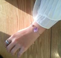 Violet quartz open Bangle
