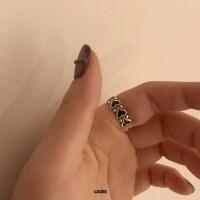 [925실버] 에스닉하트 반지