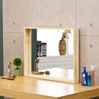 포메리트 소나무 원목 사각거울 700