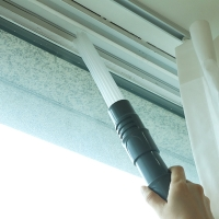 NPL 에어컨 틈새 창틀 청소기 헤드 청소솔 창문 틀 구석 먼지 청소