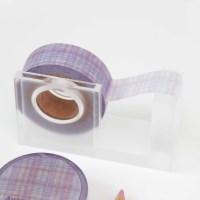 Autumn Check Masking Tape [Lavender Milk]