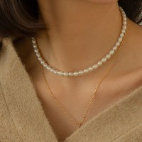 lunne classic pearl necklece (925 실버) (3type)