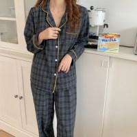모던 체크 파자마세트 잠옷세트