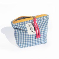 Check pouch(S)_Sky blue