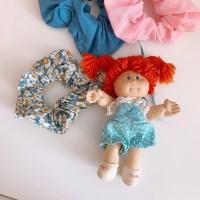 Blue Flower Scrunchie 블루꽃스크런치 곱창머리끈