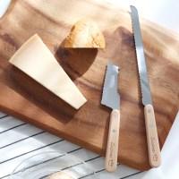 우드 바게트 빵칼 치즈커터 나이프