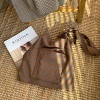 check pocket bag_brown