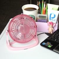 USB 미니 버거 선풍기 - 핑크