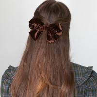 shirring velvet ribbon hair pin (4colors)