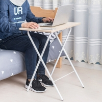 OMT 무조립 일체형 접이식 원목 사이드 테이블 책상 2color