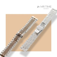 [MR TIME Metal] 스테인레스 스틸 메탈 로즈골드 브러쉬드 실버