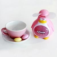 So cool 펭귄 미니 선풍기 - Pink