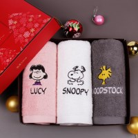 송월타올 메리크리스마스 스누피피너츠 3매세트 (핑크+_(602844747)