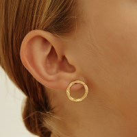 [원진아 착용][silver925]circle texture earring