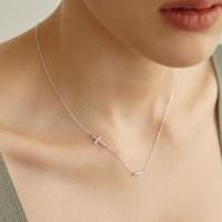 [채령,미주,휘인 착용][silver925] tidy cross necklace