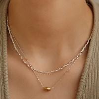 [나나 착용][silver925]concise oval necklace
