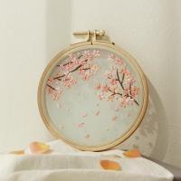 hobbyful 봄날의 벚꽃 프랑스자수 클래스