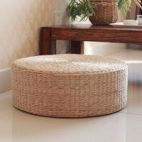 두꺼운 라탄 방석 명상 수제 라탄 테이블 스툴 의자