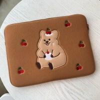 [10x10 단독할인]영이의숲_체리 꽃카 노트북 파우치