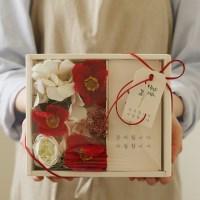 플라워용돈박스 - 실크플라워양귀비 [2color]_(969343)