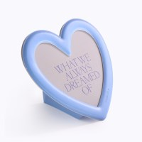MAGNET STAND PHOTO FRAME_HEART_BLUE