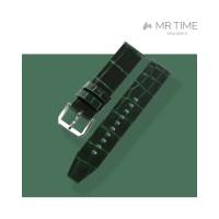 [MR TIME Crocodile Leather Green] 악어가죽 시계줄 핀버클 그린