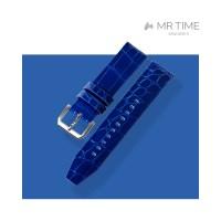 [MR TIME Crocodile Leather Blue] 악어가죽 시계줄 핀버클 블루