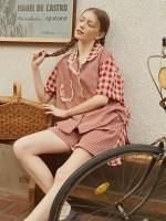[울랄라파자마] 앤의 설레임 반팔 여성페어 레드