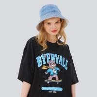 스케이트보드스쿨 오버핏 반팔티셔츠 - 블랙
