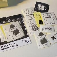 [자꾸자꾸] 블랙라인 도무송 스티커팩