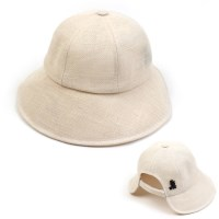 Linen Backopen Ivory Bucket Hat 린넨버킷햇