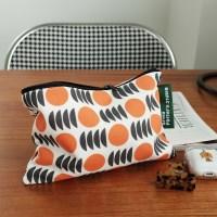 [BFMA P.STUDIO] 오렌지 패턴 지퍼 파우치