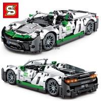 중국레고 sy블럭 테크닉자동차 화이트포르쉐 918 레고자동차 8610