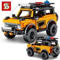 중국레고테크닉 sy블럭 옐로우 오프로드 자동차 초등남아선물 8502