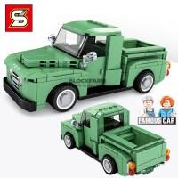 셈보블럭 레고미니카 스피드챔피언 그린픽업 트럭 초등학생레고 5125