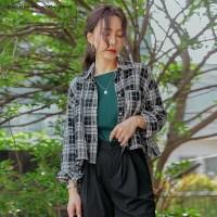 [커먼유니크] 호카 체크 포켓 크롭 셔츠_(2049952)