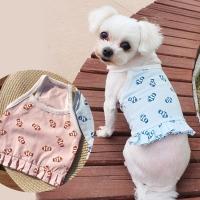 물고기크롭티 강아지티셔츠 애견옷 강아지옷 애견산책옷