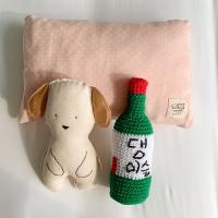 [개달당]강아지 베개인형3종SET _ 삑삑이장난감 베개