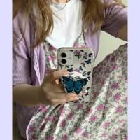 [뮤즈무드] Big rose butterfly (clear) 아이폰케이스