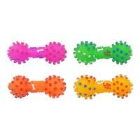 [블루마토] 아령 라텍스 삑삑이 장난감(S) 4개 (DTL001)