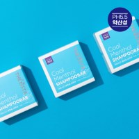 3+1 더비스타 쿨맨솔 약산성 샴푸바 시원한고체샴푸 대용량120g